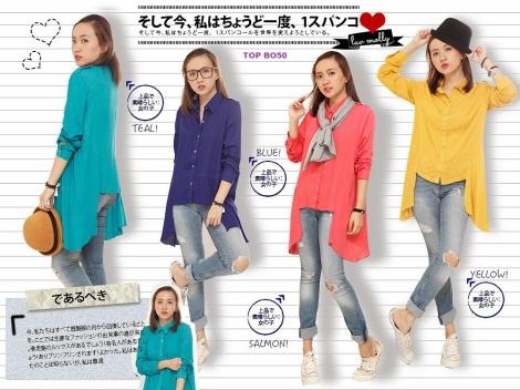 blouse asymetris rayon krinkle